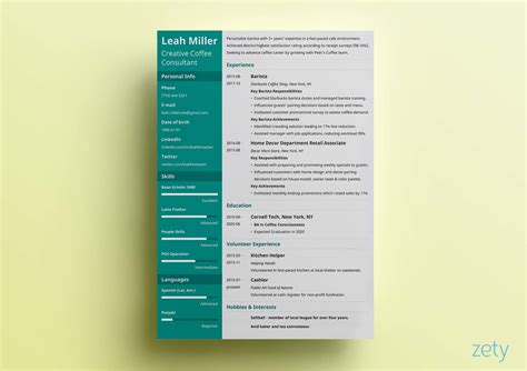 14188 creative business resume great resume templates 15 exles to use