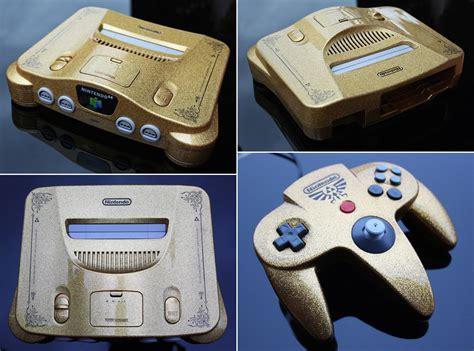 Custom Zelda Nintendo 64 Gold Flake Finish By Zoki64 On