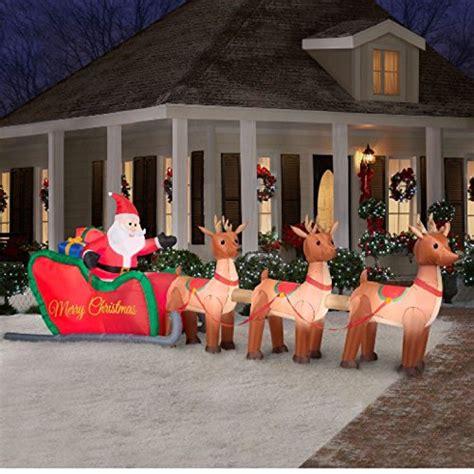 giant  ft inflatable lighted santa  sleigh