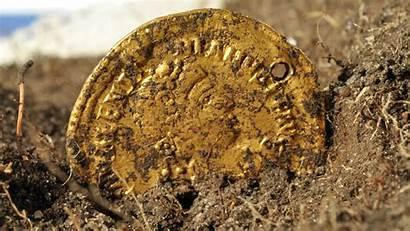 Gold Coin Coins Money Roman Sweden Found
