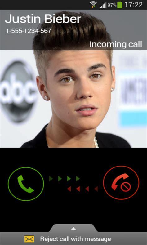 justin bieber prank call apk   android