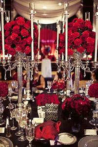black and red table setting red wedding flowers pinterest With black and red wedding ideas