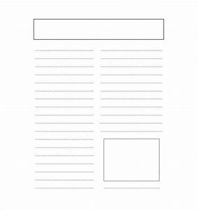 14 blank newspaper templates free sample example With blank newspaper template for word