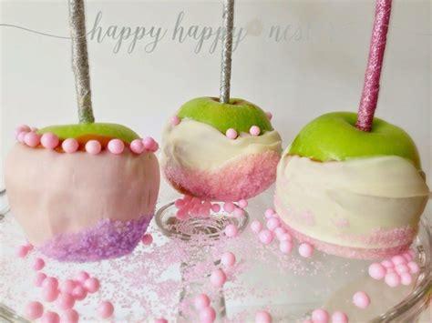 Caramel Pink Apples pink caramel apples a treat happy happy