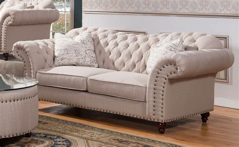sofa loveseat set walton classic sweetheart button tufted sofa loveseat