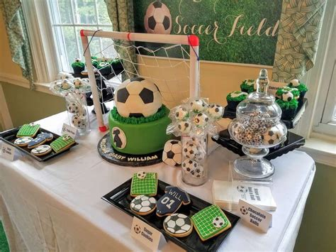 sportsoccer baby shower party ideas   showers