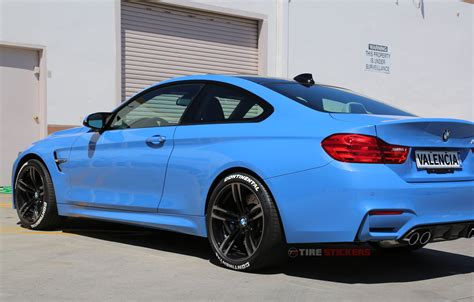 Bmw Tire by Blue Bmw M4 Tire Letters Tire Stickers