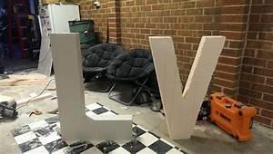 Diy love making giant love letters p weddingbee for Giant foam letters diy