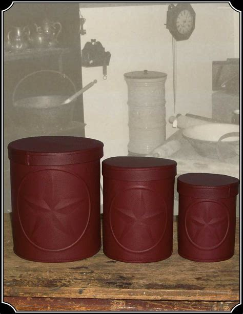 Tin Star Canisters Set of 3