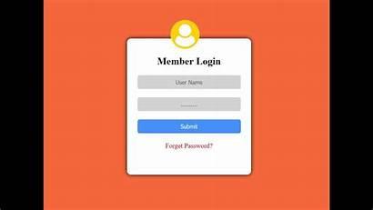 Login Form Code Css Using Password Fields