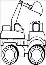 Bulldozer Coloring Printable Side Truck Wecoloring sketch template