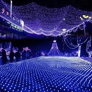 led net lights large outdoor christmas decorations garden With outdoor lights on netting