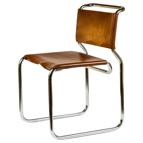 cantilevered chrome and leather chair at 1stdibs