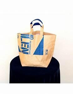 Sac En Papier Deco : sac en papier recycl bangkok bleu carr ville ou d co ~ Teatrodelosmanantiales.com Idées de Décoration