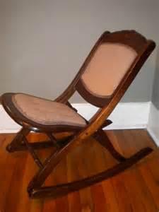 items similar to antique upholstered folding wood rocking