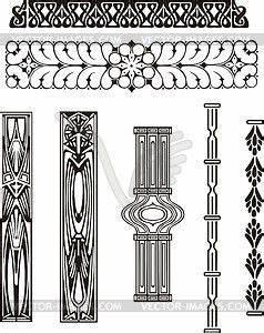 Jugendstil Florale Ornamente : ornamente im jugendstil vector clipart eps jugendstil ~ Orissabook.com Haus und Dekorationen