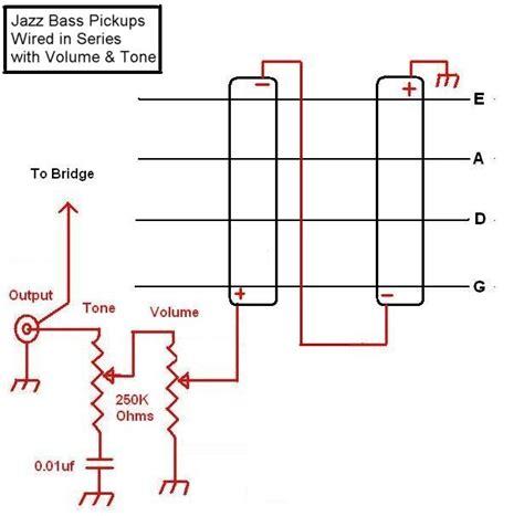 jazz bass series wiring without a switch talkbass