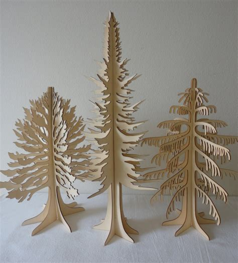 table size christmas trees  set  holiday mood