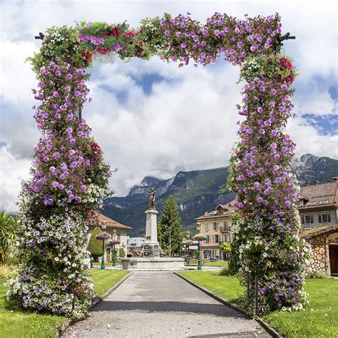 Costway Garden Wedding Rose Arch Pergola Archway Flowers