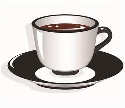 Cup Tea Coffee Clipart Clip Saucer Vector