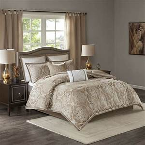 Beautiful, Chic, Modern, Contemporary, Taupe, Tan, Beige, Brown, Pintuck, Comforter, Set