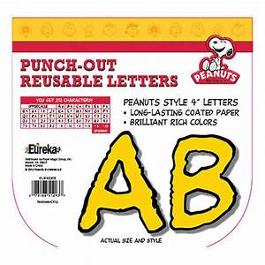eureka reusable punch out deco letters 4 peanuts yellow With punch out letters for bulletin boards