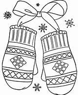 Mittens Coloring Pages Winter Mitten Kleurplaten Gloves Kleurplaat Wanten Raskraski Printable Sneeuw Hat God Clip Thema Activities Kerst Kinderen Moufle sketch template