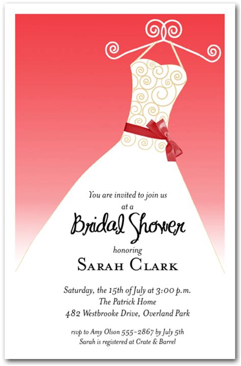 scarlet red ribbon sash  white gown invitations bridal