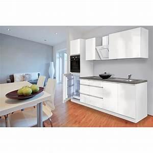 Küche Weiß Hochglanz Grifflos : respekta k chenzeile glrp270hww grifflos 270 cm wei hochglanz kaufen bei obi ~ Eleganceandgraceweddings.com Haus und Dekorationen