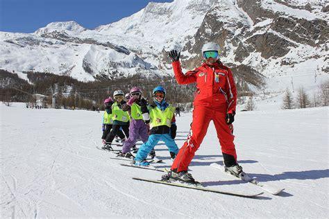 rückenprotektor kinder ski ski course from 7 years swiss ski school saas fee