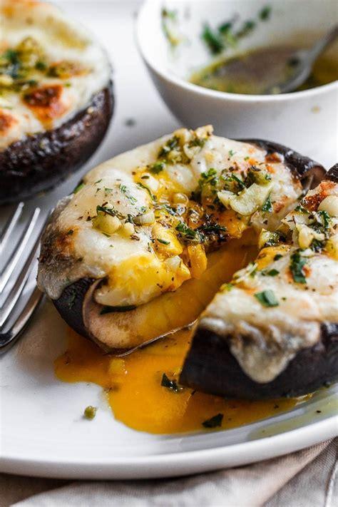 cheesy stuffed portobello mushrooms recipe  garlic