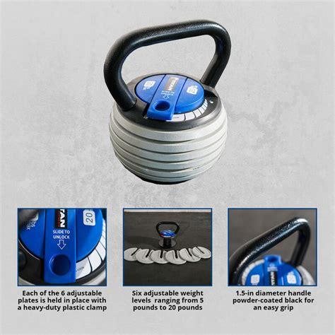 kettlebell adjustable weight lb kettlebells
