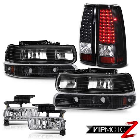 02 silverado tail lights 99 02 chevy silverado 1500 2500 hd bright led black tail