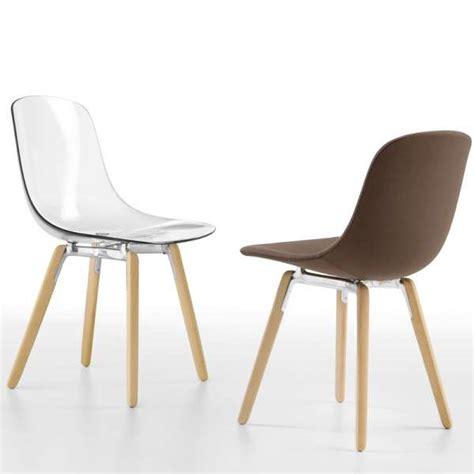 chaises en plexiglas chaise design en plexi pieds bois loop wooden