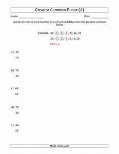 Factors Maths Worksheets - prime factorization worksheets ...
