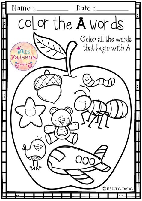color with letter a free alphabet letter of the week is designed to help teach