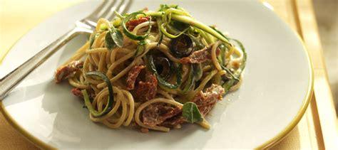cuisiner courgette spaghetti spaghetti aux courgettes aux tomates séchées et au