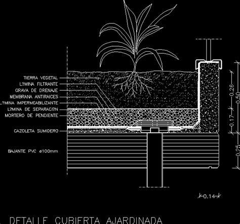 roof garden dwg detail  autocad designs cad