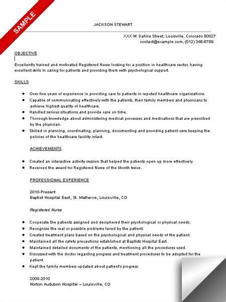 Sle Resume For Nurses by Rn Objective For Resume Vvengelbert Nl