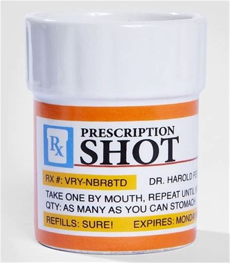 Prescription Pill Bottle Shot Glass Set   Goofts, funny gifts, gags and pranks.