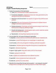 Characteristics Of Life Worksheet Pdf