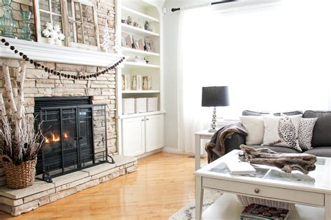 winter living room decorating a pretty in the suburbs