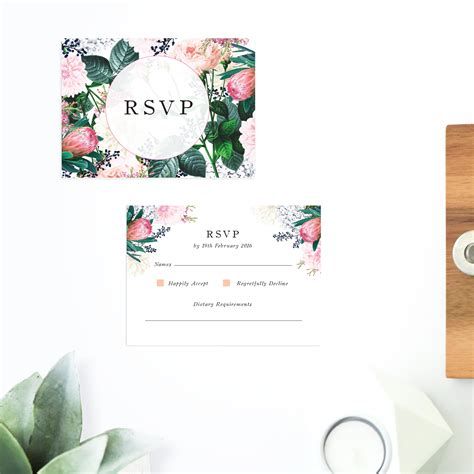 floral wedding invitations sail and swan