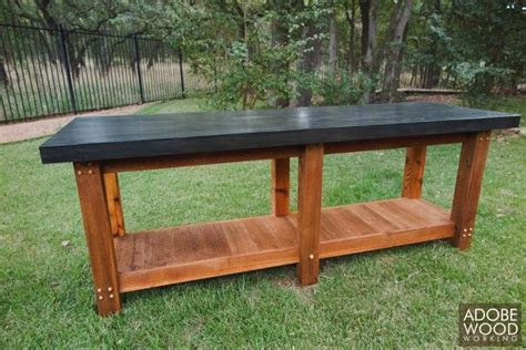 hand crafted outdoor work table workbench extra thick