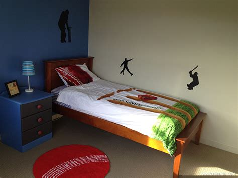 cricket themed room   boy