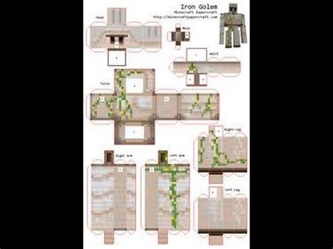 papercraft ep  iron golem youtube