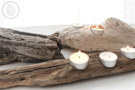 driftwood candle holder diy driftwood candle holders the gold jellybean