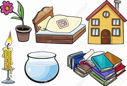 Objects Clipart Cartoon Household Clip Illustration Every