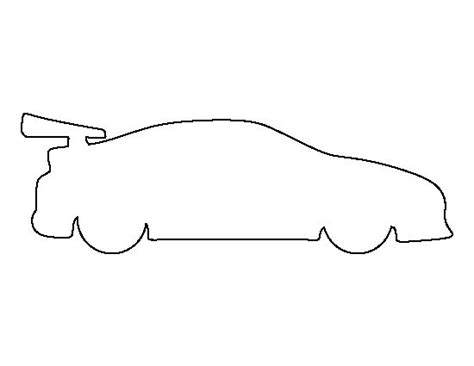 race car template race car pattern use the printable outline for crafts creating stencils scrapbooking and