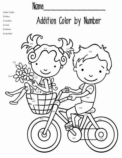 Math Coloring Pages Addition Printable Worksheet